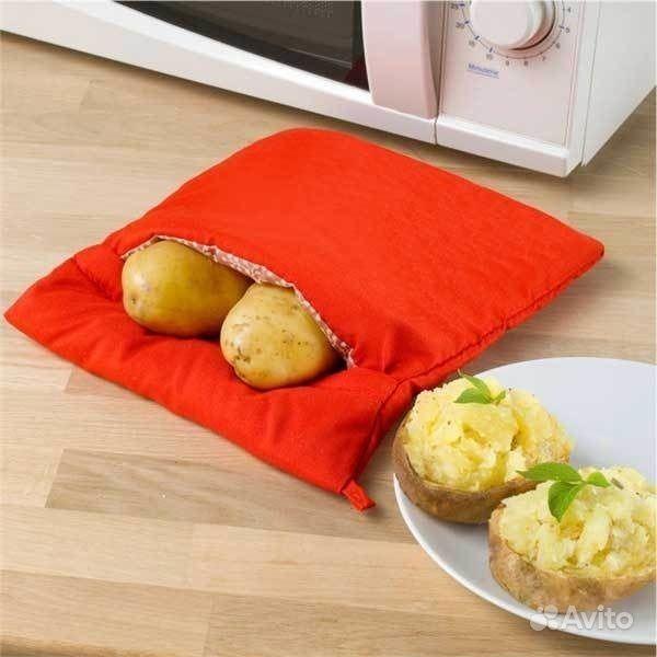 Мешочек для запекания картофеля в свч, красный. Самарская область,  Самара