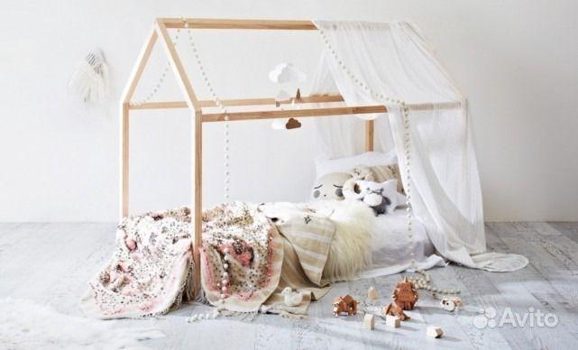 Детские кроватки Домики.  Москва