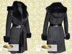 Дубленка женская с капюшоном и английским воротником 0224 купить Одесса.