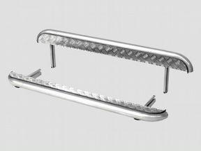 Пороги с алюминиевым листом Нива 21214-урбан