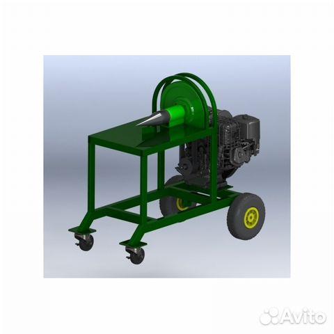 Конусный дровокол на бензиновом двигателе