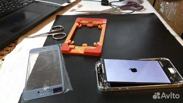 Сменить стекло на айфоне 4 видео