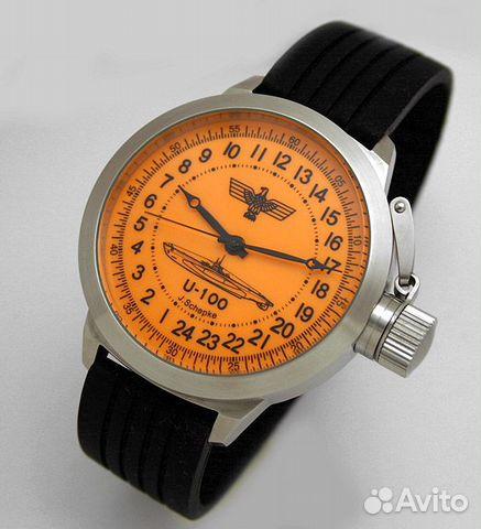 часы с 24 часовым циферблатом наручные подводная лодка купить