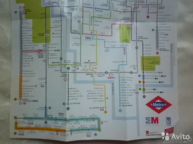 Схема метро Мадрид 2011/ 1