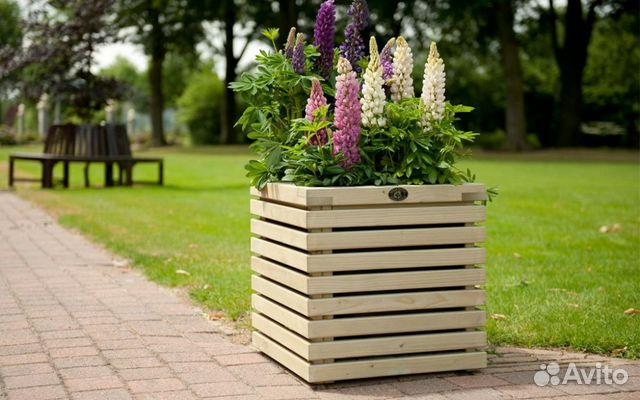 Ящик для цветов деревянный