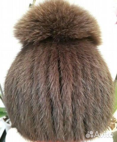 шапка женская норковая вязаная Festimaru мониторинг объявлений