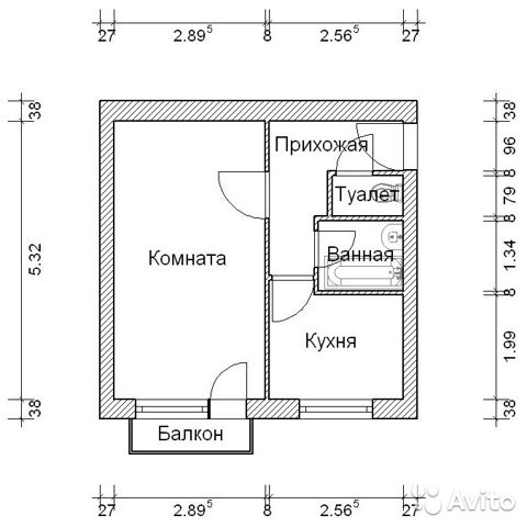 Строительная серия i-515 9ш размеры балкона.