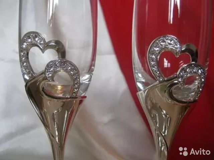 Свадебные бокалы swarovski
