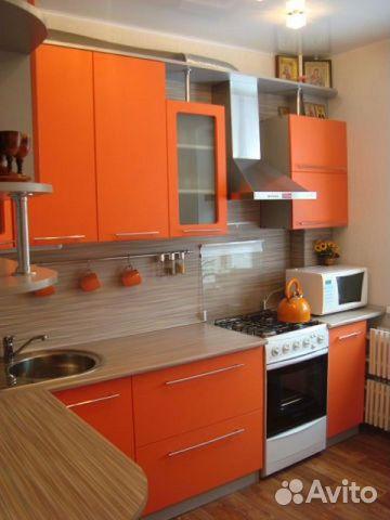 Купить кухню оранжевого цвета