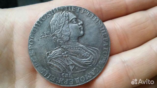 монета 1724 года рубль герпес при