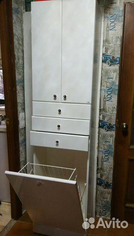 Пенал для ванной с корзиной калининград
