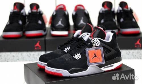 a48a87dc кроссовки Nike Air Jordan 4 Retro чёрные красные 4 купить в москве