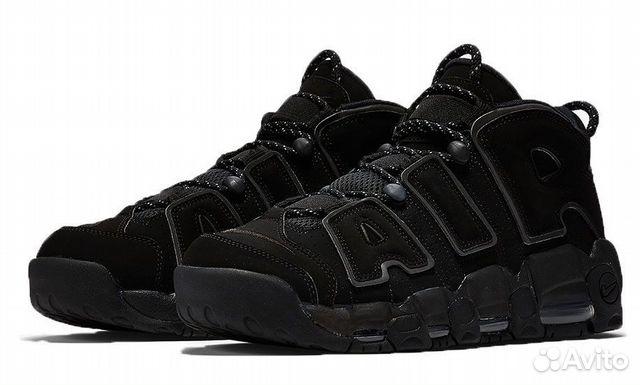 78205b87752d Кроссовки Nike Air More Uptempo Triple Black купить в Москве на ...