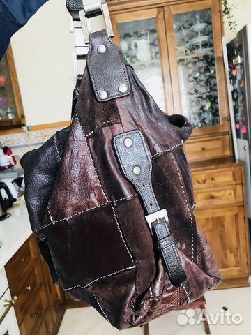 Кожаная сумка в стиле пэчворк купить 2