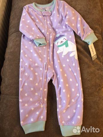 Флисовая пижама Carters картерс новая  228df9c36bf47