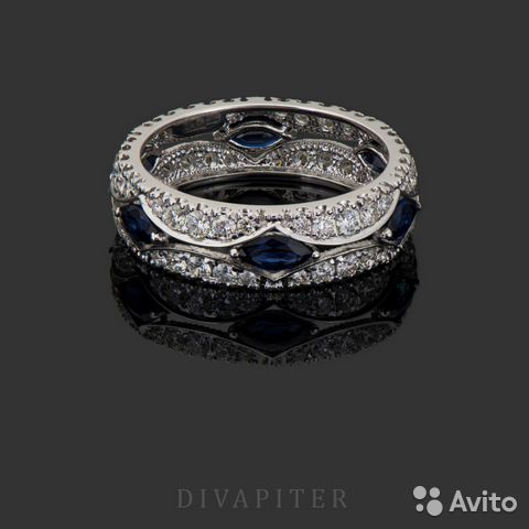 aa2bc8ee248c Золотое кольцо с сапфирами   Festima.Ru - Мониторинг объявлений