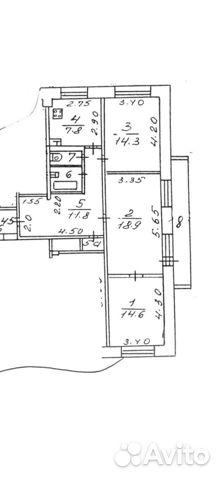Продается трехкомнатная квартира за 8 000 000 рублей. Мытищи, Московская область, Юбилейная улица, 5.