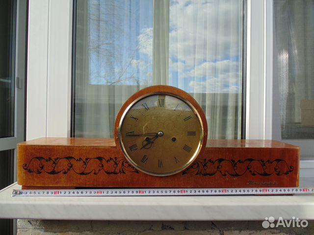 Часы буфетные каминные Весна с боем 1965 год