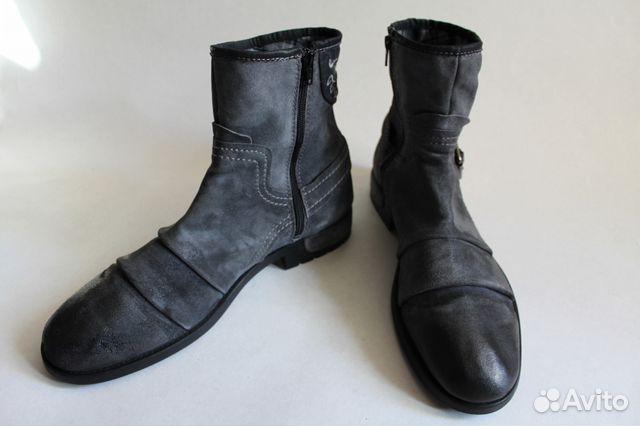 0ea710dc58f6b8 Серые мужские замшевые высокие ботинки Bugatti купить в Санкт ...