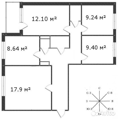 Продается четырехкомнатная квартира за 3 500 000 рублей. Тюменская обл, г Тобольск, мкр Защитино, проезд Домостроителей, д 1.