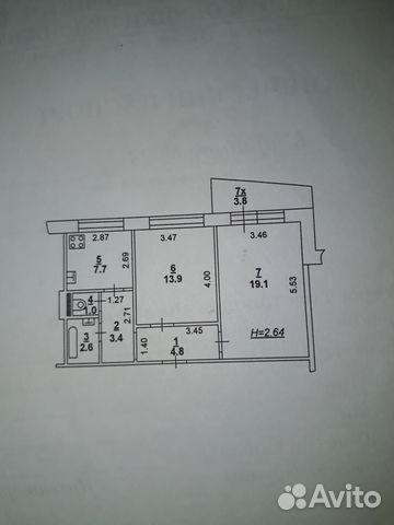 Продается двухкомнатная квартира за 3 000 000 рублей. г Ростов-на-Дону, пр-кт 40-летия Победы, д 95/3.