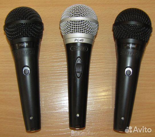 Проф вокальные микрофоны Shure PG48 - 58 3шт новые 89128899109 купить 1
