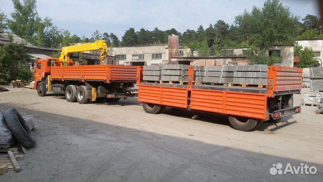 Аренда манипулятора Камаз с прицепом 20 тонн