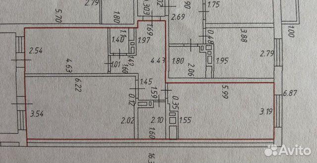 3-к квартира, 74 м², 14/19 эт. 89054085713 купить 2