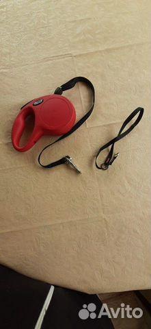 Поводок рулетка Flexi, 5метров, до 20 кг, красная  купить 6