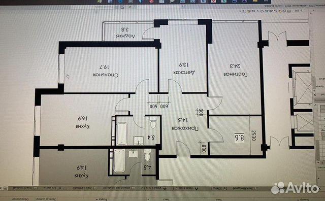 3-к квартира, 102 м², 10/12 эт.  89640512659 купить 5