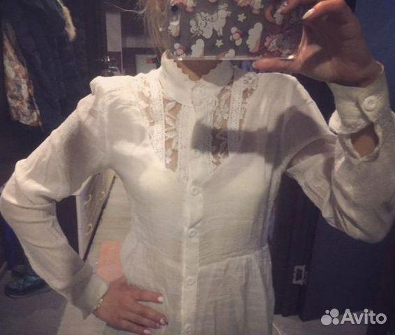 Рубашка белого цвета  89000111188 купить 1