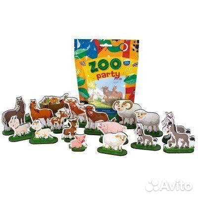 Набор дерев. ZOO party Домашние животные, 18 шт  89236000808 купить 1