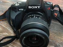 Зеркальный фотоаппарат Sony a230+флешка в подарок