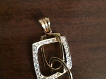 Золотые серьги, кольцо и подвеска