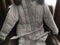 Удлинённая куртка, мех чернобурки новая