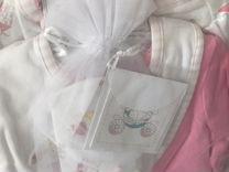 Подарочный набор для девочки новый на 7-12мес