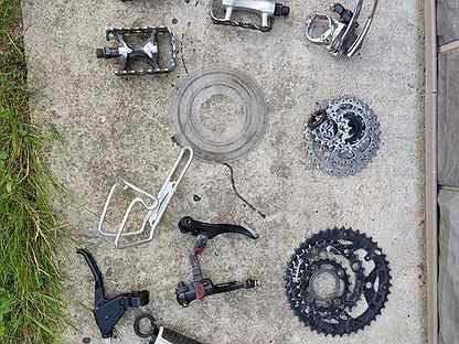 Разные запчасти для горного велосипеда