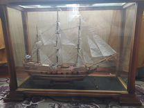 Корабль под стеклом модель орел,ручная работа