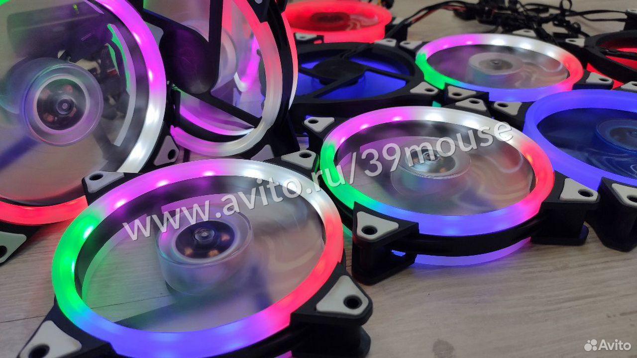Кулер вентилятор с подсветкой RGB новые 120мм  89216108390 купить 2