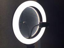Кольцевая лампа со съемным зеркалом