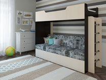 """Кровать-чердак с диваном """"Ричи"""""""