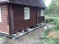 Подъем домов на сваи винтовые