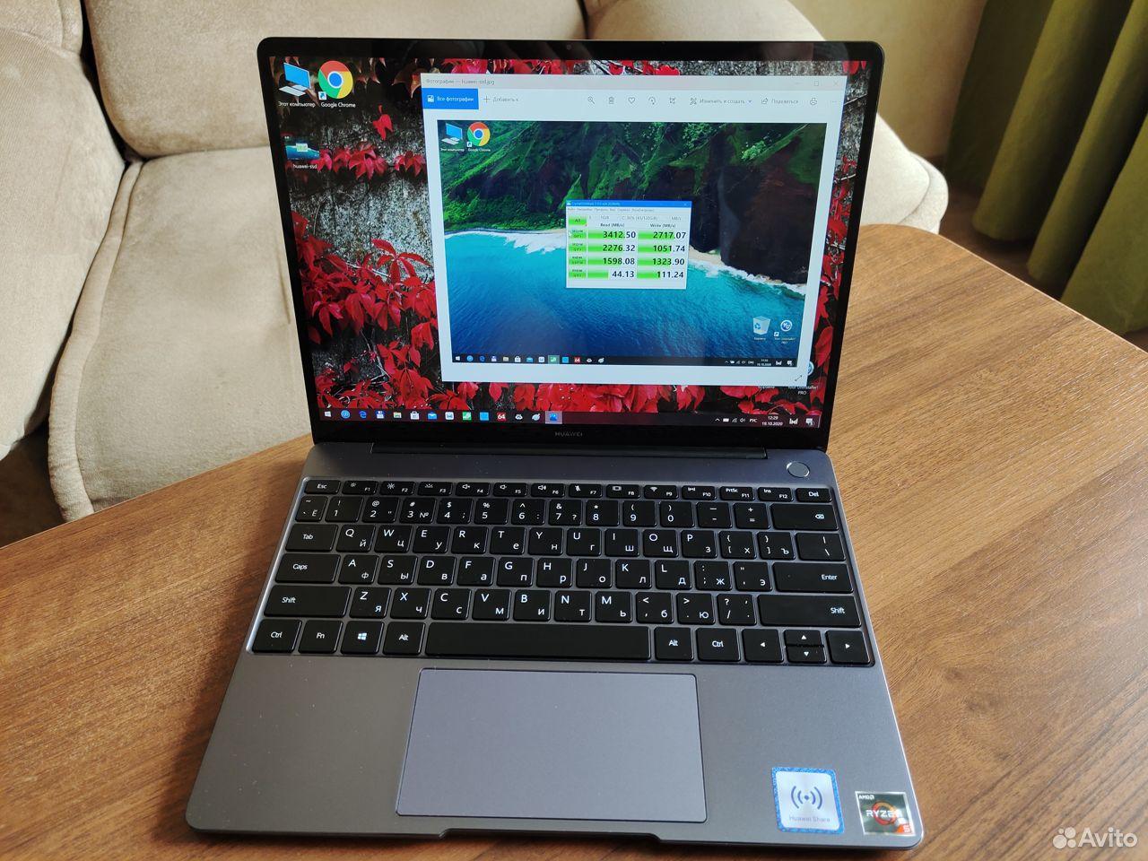 Huawei MateBook 13 2020 AMD 16гб + 512 (HN-W19R)  89231887714 купить 3