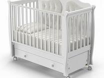 Детская кроватка Nuovita Affetto Swing, белый