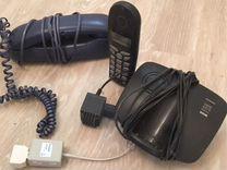 Телефон стационарный с базой проводной телефон