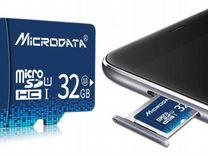 Карта памяти MicroSD 32GB Class 10 с адаптером
